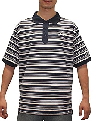 Mens MLB Atlanta Braves Baseball Athletic Short Sleeve Polo Shirt