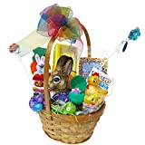 Great Gifts Bunny Love Easter Basket: 4 oz Chcolate Foiled Chubby Bunny, Plush Toy, Candy, Peeps, More!