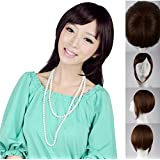 New Clip in on Side Swept Bangs Hair Extensions Hairpiece Long Fringes,hairpiece Skin Top Design