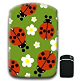 Tiny Red Spotted Ladybugs White Daisy For Amazon Kindle Fire & Kindle 3G Keyboard Soft Protection Neoprene Case Cover Sleeve Bag With Pocket which is Ideal for Headphones, Data Cable etc