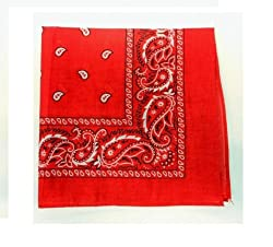 Paisley Cotton Bandanas RED