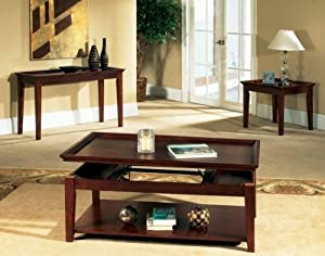 Steve Silver Company Clemens Sofa Table in Cherry Finish