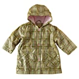 IM Link Pluie Pluie Girls Green Plaid Lined Raincoat Outerwear 7-8