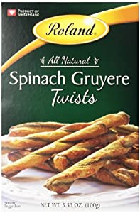 Roland Twists, Spinach and Gruyere Cheese, 3.5 Ounce