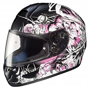 HJC Mens CL-16 Virgo Full Face Motorcycle Helmet MC-8 Black/Pink/White Extra Small XS