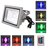 Dreamy Lighting Waterproof Remote Control RGB 16 Color Changing LED Flood Light