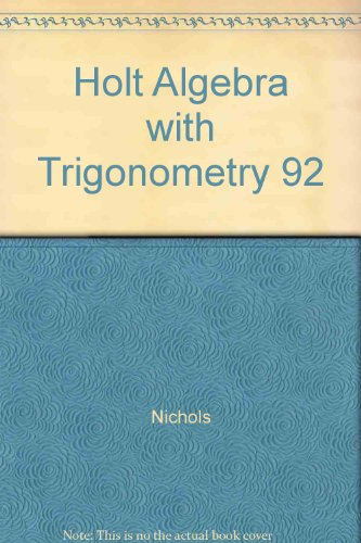 Holt Algebra with Trigonometry (Annotated Teacher's Edition)