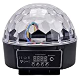 HOSL Super Wonderful LED RGB Crystal Magic Ball Effect light DMX Disco DJ Stage Lighting Great for Stage, Disco, Club, Party, DJ, KTV, Bar, Hotel, Home, Christmas, PartyWedding, Entertainment, Shows, Theme Park and Decoration Place