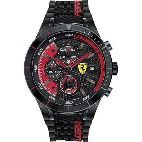 Scuderia Ferrari OROLOGI Hombre Reloj de pulsera Red Rev Evo analógico de cuarzo silicona 0830260