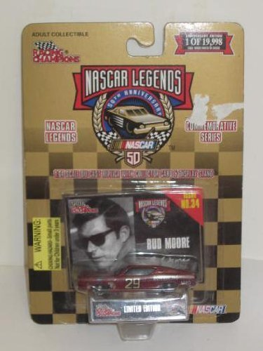 Racing Champions NASCAR Legends- Limited Edition (1 of 19,988) 50th Anniversary Commemorative Series - 1:64 Scale Premier Die-Cast Replica Ford - Bud Moore #29 - Issue #02300