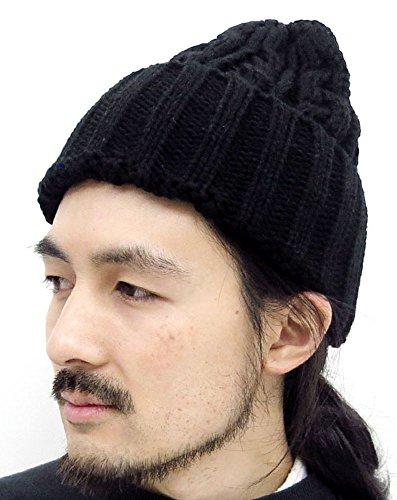 (ジーンズショップ マルカワ) Jeans shop MARUKAWA ニット帽 メンズ ワッチキャップ 冬 4color Free ブラック