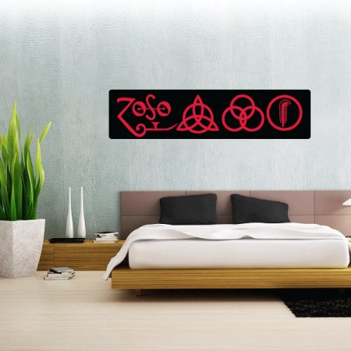 """Led Zeppelin Heavy Metal Zoso Wall Graphic Decal Sticker 25"""" X 6"""""""