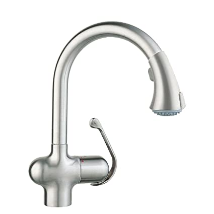 Grohe 33755SDE   Ladylux Cafe Single-Handle Pull-Down Sprayer Kitchen Faucet in Stainless Steel