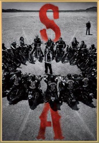 Sons Of Anarchy Poster Stampa e Cornice (Plastica) - SOA Cerchio De Motocicliste (91 x 61cm)