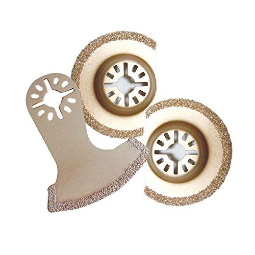 Diamond Oscillating Saw Blade For Fein Multimaster Bosch, Craftsman, Chicago Electric Dremel,Variety 3-Pack