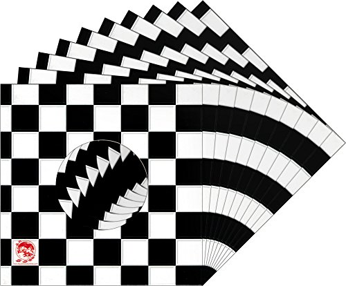 10-7-Record-Jackets-Black-White-Checkered-Ska-Pattern-With-Hole