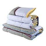 (OSLEEP)洗える寝具布団4点セット 抗菌防臭 収納ケース付洗える掛け布団 敷布団 枕 (シングル, イエロー混色) ランキングお取り寄せ