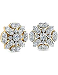 WearYourShine By PC Jeweller The Ayanna 18 K Gold And Diamond Stud Earrings