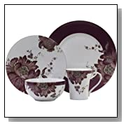 222 Fifth Eliza 16-Piece Dinnerware Set, Lavender