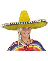 MEXICAN STRAW SOMBRERO HAT MENS OR LADIES IDEAL FANCY DRESS