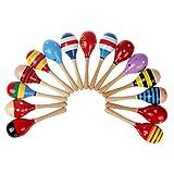 Vale® 1 PC bebé lindo Kids Sound Music regalo Niño Sonajero Musical coloridas de madera Juguetes-Enviar Colores y Diseños al azar