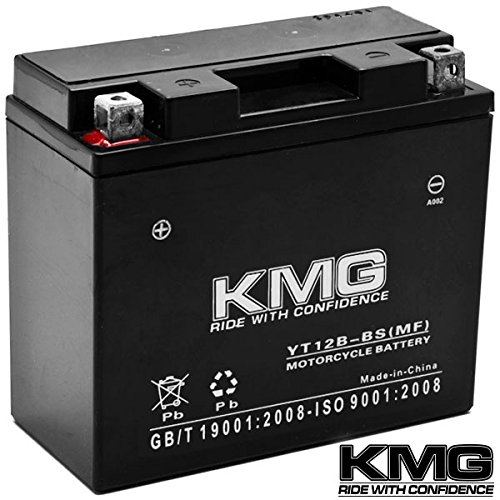 KMG® Yamaha 650 XVS650 V-Star All 1998-2011 YT12B-BS Sealed Maintenace Free Battery High Performance 12V SMF OEM Replacement Maintenance Free Powersport Motorcycle ATV Scooter Snowmobile KMG (Oem Motorcycle Parts compare prices)