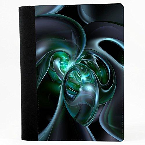 Astratto 10006, Verde Moderno, Nero Polyester Cartella Congressi block notes Taccuino con Fronte di Sublimazione e alta qualità Design Colorato.Dimensioni A4-320x240mm.