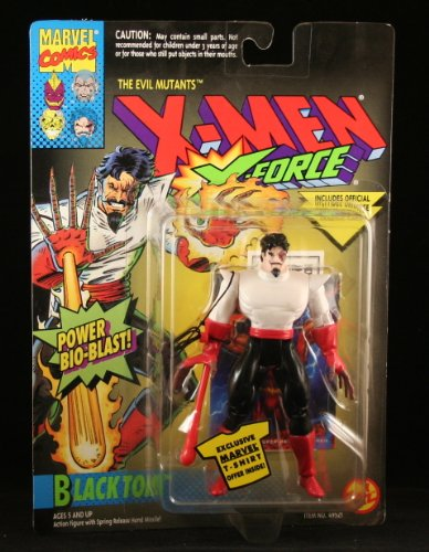 BLACK TOM & POWER BIO-BLAST X-Men X-Force Action Figure & Official Marvel Universe Trading Card - 1