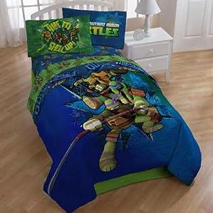 Teenage Mutant Ninja Turtles Bedding Set Reversible Quilt Cover With Matchin