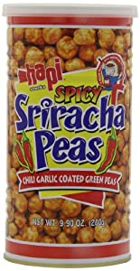 Hapi Spicy Sriracha Peas, Chili garlic Coated Gren Peas, 9.9-Ounce (Pack of 3)