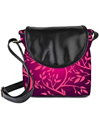 Snoogg Vector Seamless Pattern With Pink Branches Womens Sling Bag Small Size Tote Bag