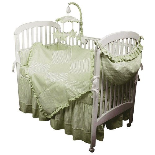 Hoohobbers 4-Piece Crib Bedding, Celery Sherbert