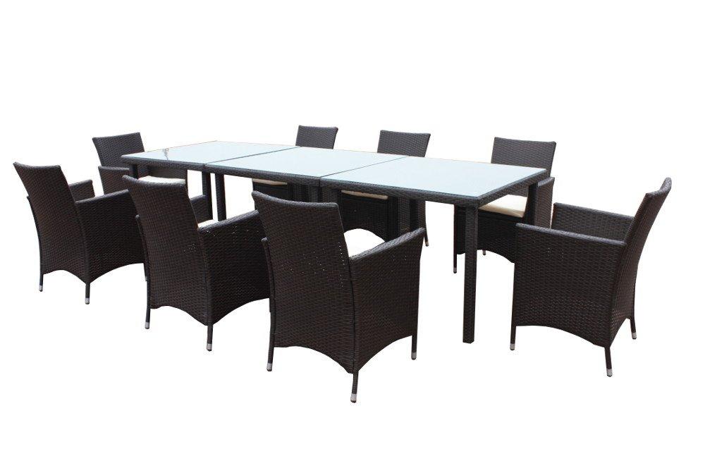 Poly-Rattan Gartenmöbel-Set GM27APR 80×80 günstig online kaufen