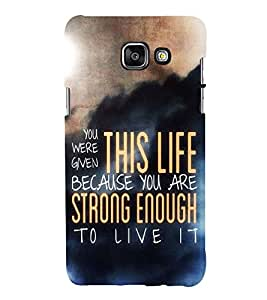 99Sublimation Good Quote on Life 3D Hard Polycarbonate Designer Back Case Cover for Samsung Phones