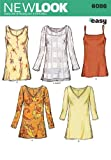 New Look Sewing Pattern 6086 - Misses Tops Sizes: A (10 12 14 16 18 20 22)