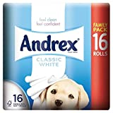 Andrex Classic White Toilet Tissue Rolls - 240 Sheets per Roll (16)