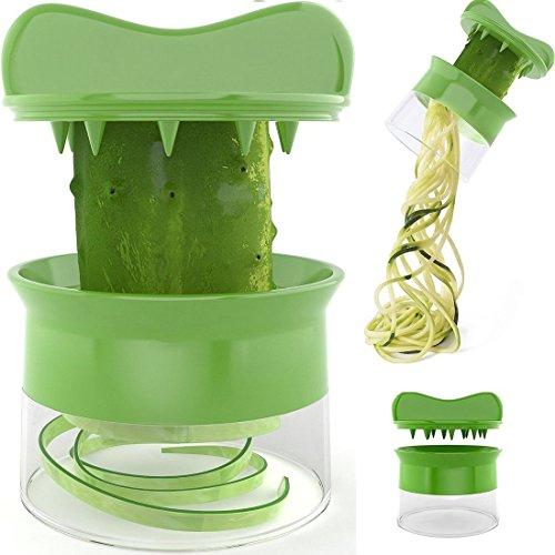 Slicer,ONEONEY Handheld Spiralizer Noodles Zucchini Spaghetti Pasta Maker Best Vegetable and Fruit Spiralizing Vegete Cutter Cheese Slicer Food Slicer Mandoline
