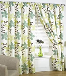 Http Www Amazon Co Uk Lime Green Curtains Floral Izabelle Dp B00477bi30