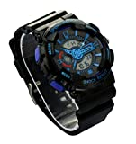 Ideashop Mens Authentic Outdoor Hiking Multifunction Running Watches Dual Time LED Digital Dive Waterproof Watch Rating