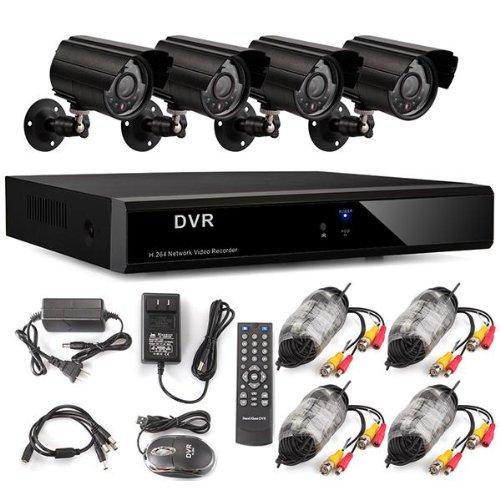 Bestselling 8CH H.264 DVR Recorder CCTV Sicherheit Videoüberwachungssystem mit 4 IR Tag/Nacht Überwachungskamera Set Wetterfest Outdoor