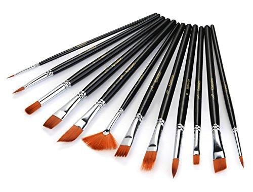 xpassion 12 piece professional paint brush set black