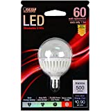 Feit BPG161/2CLDM/500/LED 60W Equivalent G16.5 Candelabra Base LED Light, Soft White