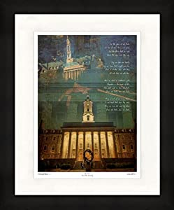 Penn State Nittany Lions Artwork Old Main 18x24 Framed Print by ActionSportsArt