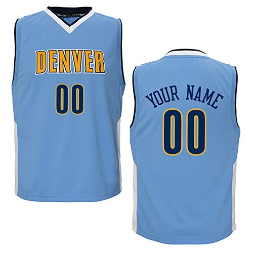 Youth Denver Nuggets Emmanuel Mudiay Adidas Light Blue: Nuggets Customized Jersey, Nuggets Personalized Jersey