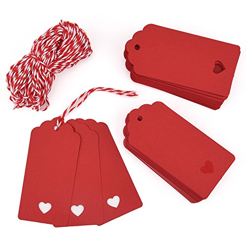 Red Kraft Paper Gift Tags