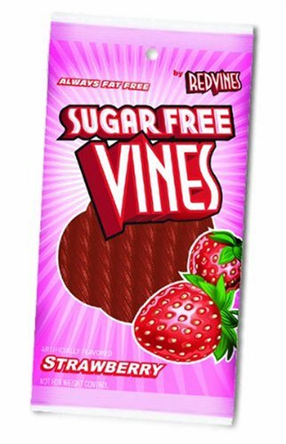 American Licorice Sugar Free Vines, Strawberry, 5-Ounce Bags (Pack of 12)