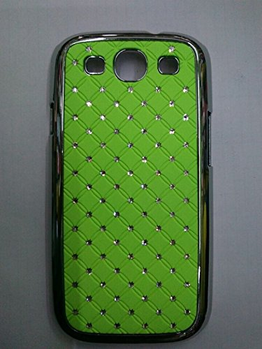 Maclogy 2014 Latest Fashion Design Luxury Dazzling Rhinestones Shiny Crystal Diamond Plating Protective Shell Trapped Difficult Cases Samsung Galaxy S3 I9300 And Fashion Chain Crystal Ornaments Color Uv Radiation Gifts (Green)