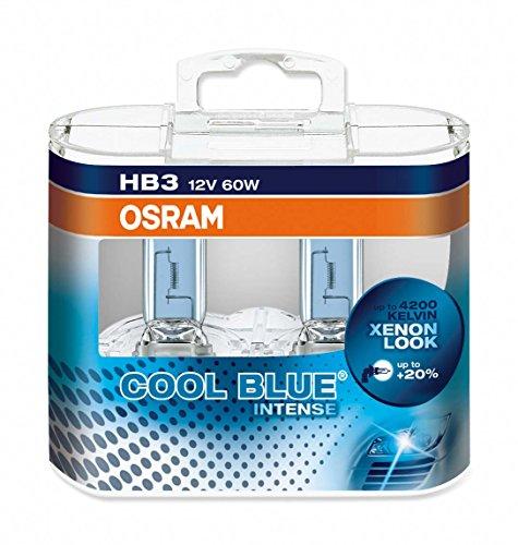 OSRAM COOL BLUE INTENSE HB3 Lampada alogena per proiettori  9005CBI-HCB 4200K e 20% di luce in più - confezione Duobox