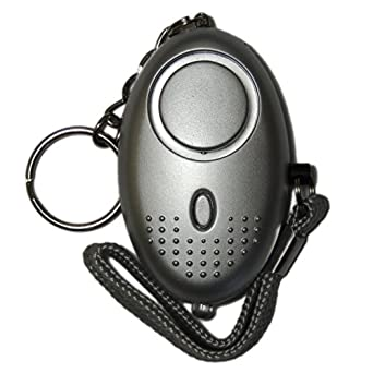 Minder PAL002 Key Ring Personal Attack Alarm with Torch, Silver