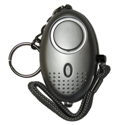Police Approved Mini Minder Key Ring Personal Attack Rape Alarm 140db with Torch (Silver) + Spare Battery Set - Secured by Design Approved (Police Preferred Specification) - FREE SHIPPING to all UK (excluding Channel Islands)